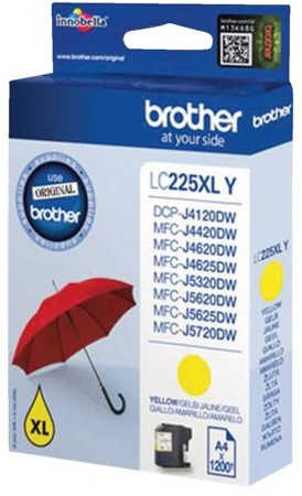 Inktcartridge Brother LC-225XLY geel HC