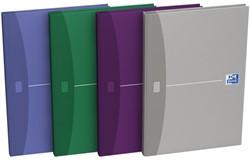 Notitieboek Oxford Essentials A4 96vel gelinieerd assorti