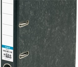 Ordner Elba Rado folio 50mm karton zwart gewolkt