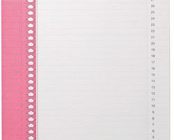 Ruiterstrook Elba Nr 0 verticaal roze