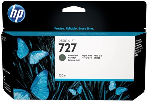 Inktcartridge HP B3P22A 727 130ml mat zwart