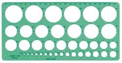 Sjabloon Linex 1116S 39 cirkels 1-35mm met inktvoetjes