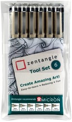 Fineliner Sakura Zentangle tool set 6delig