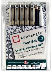 Fineliner Sakura Zentangle tool set 12delig