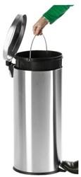 Afvalbak pedaalemmer RVS mat rond 30 liter