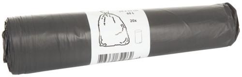Afvalzak HDK 60x80cm 14micron 60liter grijs 20stuks-2