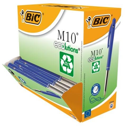 Balpen Bic M10 Ecolutions blauw medium-1