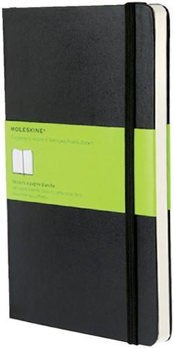 Notitieboek Moleskine large 130x210mm blanco zwart