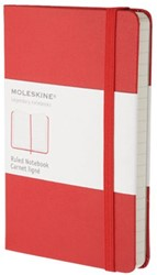 Notitieboek Moleskine lijn pocket 90x140mm rood