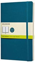 Notitieboek Moleskine blanco large 130x210 zachte kaft blauw