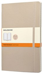 Notitieboek Moleskine lijn large 130x210mm zachte kaft beige