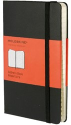Adresboek Moleskine large 130x210mm lijn zwart