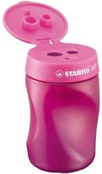 Puntenslijper Stabilo Easy 4501/1 linkshandig roze