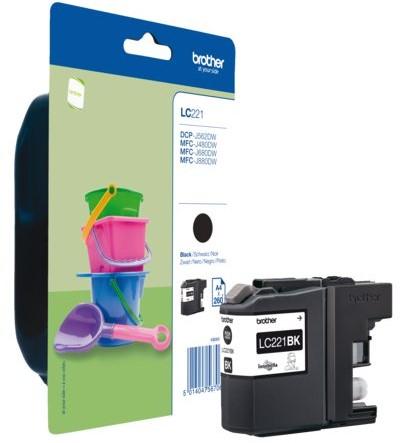 Inktcartridge Brother LC-221 zwart