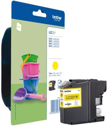 Inktcartridge Brother LC-221 geel