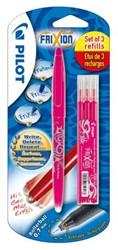 Rollerpen PILOT Frixion BL-FR7 0.4mm + 3 vullingen roze