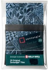 Zentangle tiles 20delig zwart
