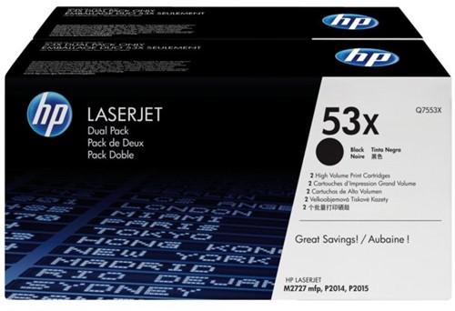 Tonercartridge HP Q7553XD 53X zwart 2x HC