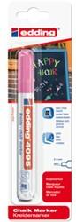 Krijtstift edding 4095 rond neon roze 2-3mm blister