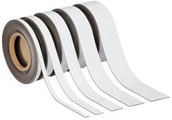 Magnetisch etiketband Maul 10mx40mmx1mm wisbaar wit