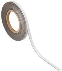 Magnetisch etiketband Maul 10mx10mmx1mm wisbaar wit