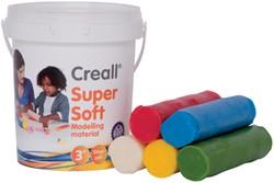 Klei Creall supersoft rood/blauw/groen/geel/wit