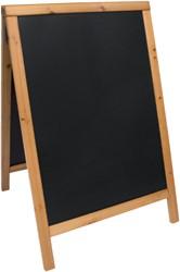 Stoepbord Securit 55x85x3cm teak hout