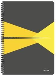 Notitieboek Leitz Office A4 lijn PP geel