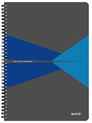Notitieboek Leitz Office A4 lijn karton blauw