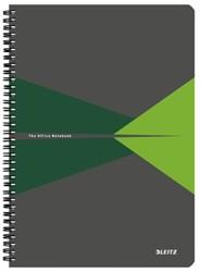 Notitieboek Leitz Office A4 lijn karton groen