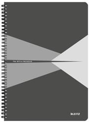 Notitieboek Leitz Office A4 lijn karton grijs