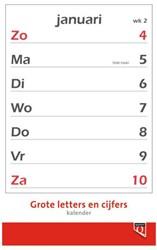 Kalender 2019 met grote letters en cijfers Quantore