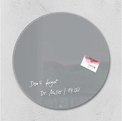 Glasbord Sigel magnetisch 400x15mm rond grijs
