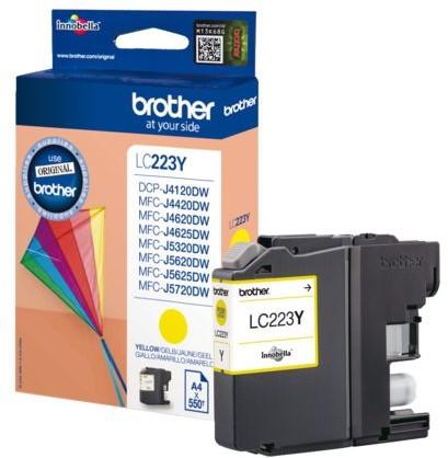 Inktcartridge Brother LC-223Y geel
