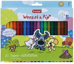 Kleurstift Bruynzeel Woezel & Pip superpunt 20 kleuren