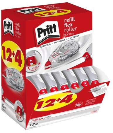 Correctieroller Pritt 4.2mmx12m flex navulbaar doos à 12+4 gratis-1