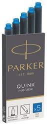 Inktpatroon Parker Quink uitwasbaar blauw