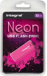 USB-stick 2.0 Integral 32GB neon roze
