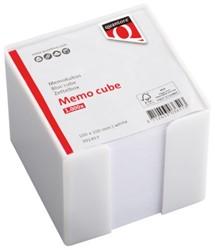 Memokubus Quantore 10x10x10cm wit met 1000vel