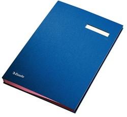 Vloeiboek Esselte 6210 karton 20tabs blauw