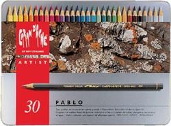 Kleurpotloden Caran d'Ache Pablo assorti blik à 30stuks