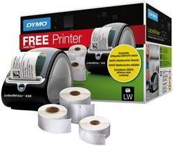 Labelprinter Dymo labelwriter 450 met 3 rollen etiketten