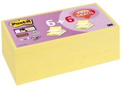 Memoblok 3M Post-it Z-Note S330-Y+6 76x76mm Super Sticky gl