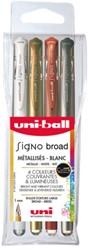 Gelschrijver Uni-ball Signo Broad metallic ass 1,0mm à 4st