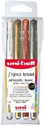 Gelschrijver Uniball Signo Broad metallic ass 1,0mm à 4st