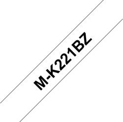 Labeltape Brother P-touch MK221 9mm zwart op wit