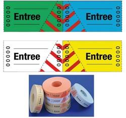 Entreebewijs Combicraft nummering 1-1000 geel