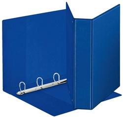 Presentatieringband Esselte Deluxe A4 4-rings D-mech 30mm blauw