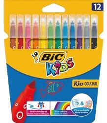 Viltstift Bic 217 kid couleur 750 assorti medium etui à 12st
