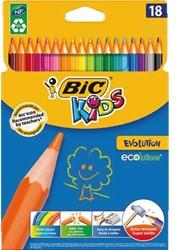 Kleurpotloden Bic Kids evolution ecolutions ass blister à 18st